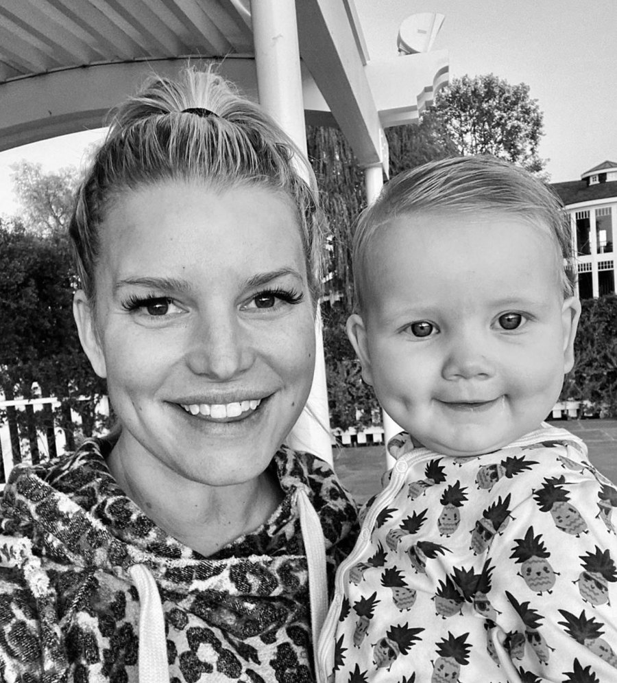 Jessica Simpson and Birdie Mae Instagram Dimple