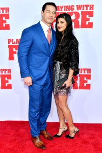 John Cena and Girlfriend Shay Shariatzadeh Make Red Carpet Debut at Playing with Fire Film Premiere