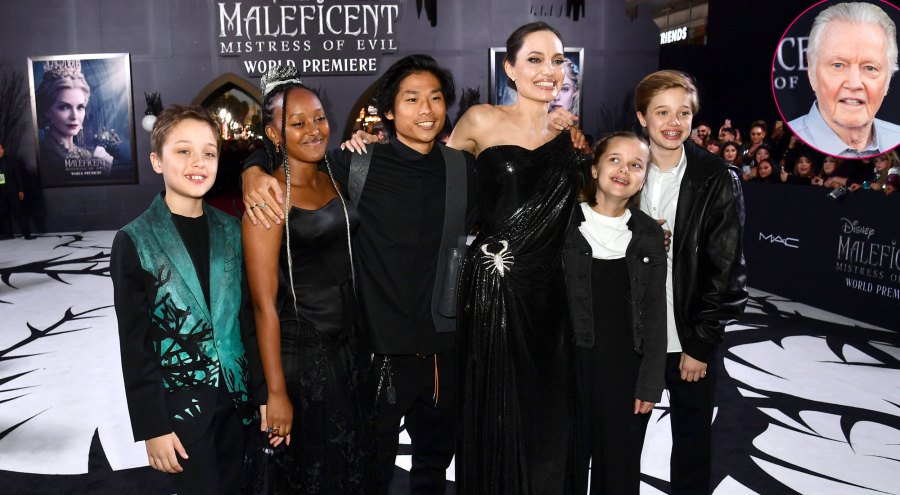 Jon Voight Gushes Over 'Good Mommy' Angelina Jolie as She Attends 'Maleficent: Mistress of Evil' Premiere With Kids