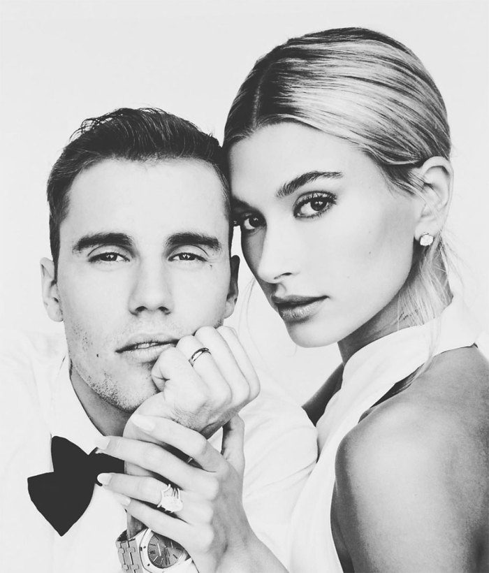 Justin and Hailey Bieber wedding veil