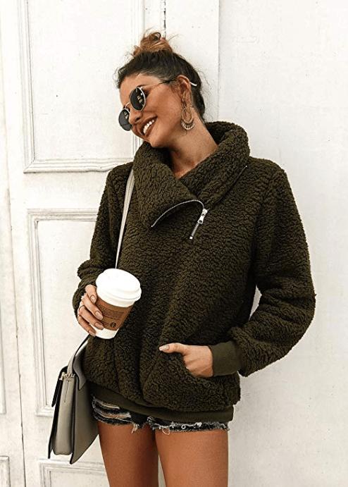 KIRUNDO olive sweatshirt
