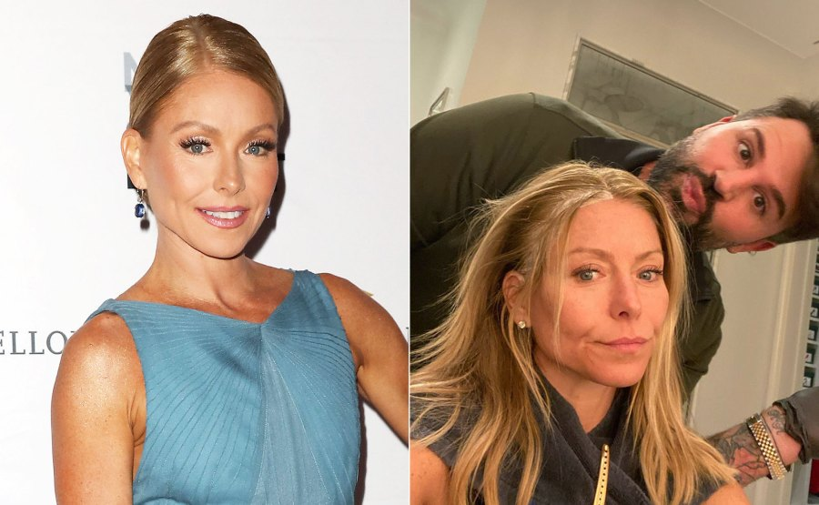 Kelly Ripa Makeup-Free Before and After
