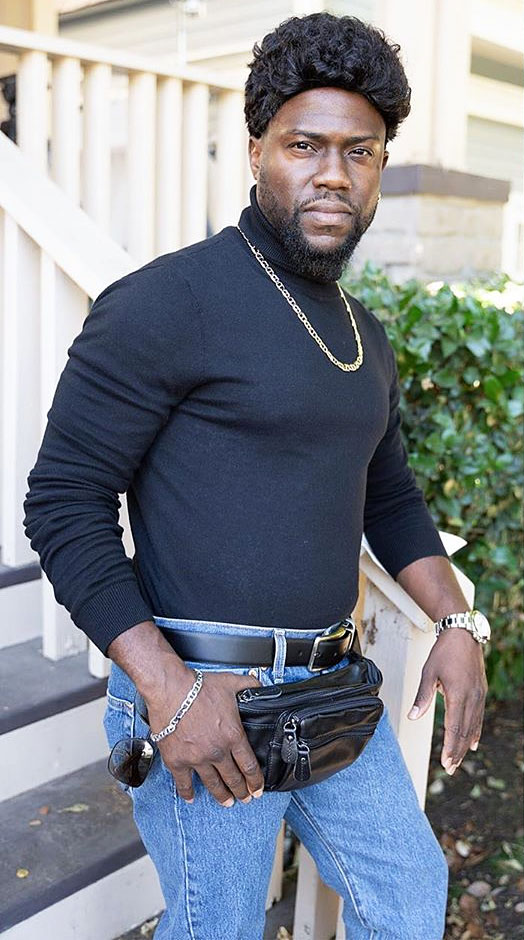 Kevin Hart as The Rock's Throwback Pic with a Fanny Pack for Halloween Costume 2019