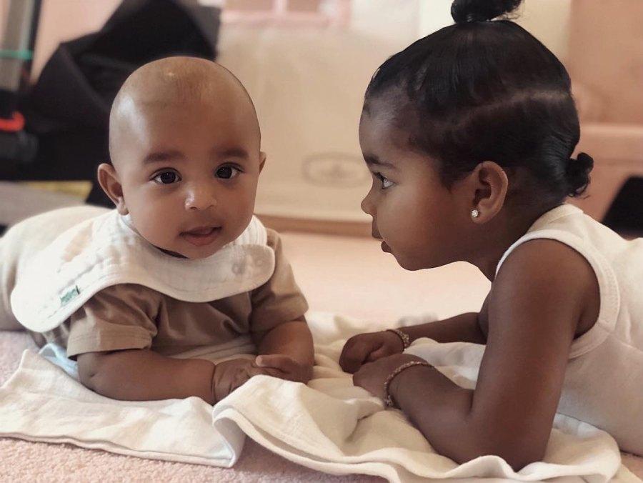 Khloe-Kardashian's-Daughter-True-Play-With-Kim-Kardashian's-Son-Psalm