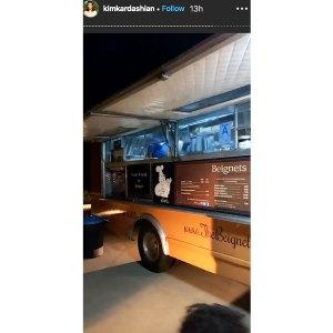 Kim Kardashian Celebrated Her Birthday With Churro Stand Beignet Truck