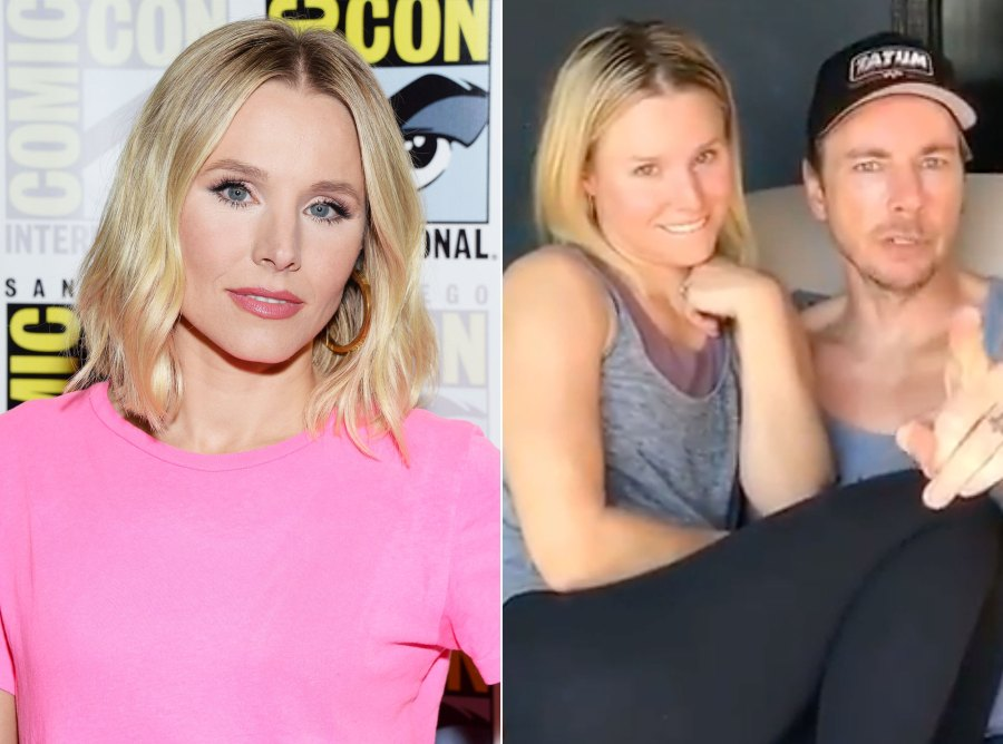 Kristen Bell Makeup Free Before and After