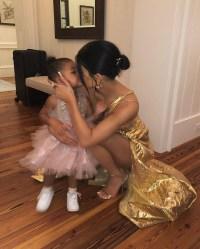 Kylie Jenner Kisses Duaghter Stormi Before Bieber Wedding