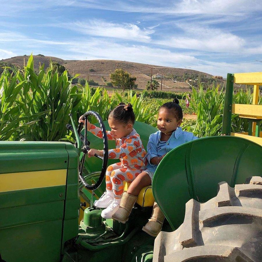 Kylie Jenner, Stormi, True at Pumpkin Patch Fall Farm