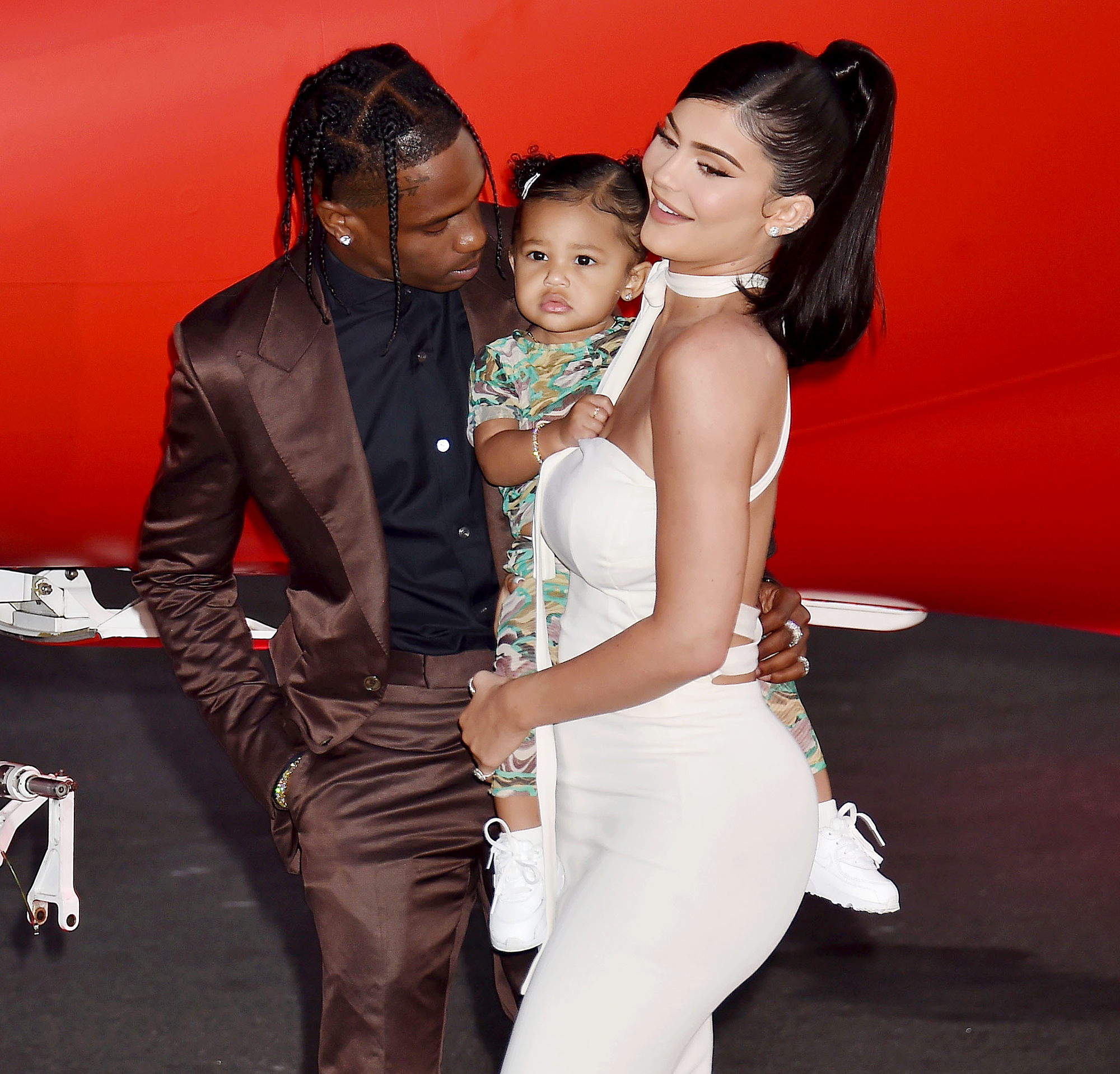 Kylie Jenner Travis Scott Stormi At Halloween Park Great Team Kylie jenner and travis scott began dating in 2017 and welcomed their daughter in february 2018. kylie jenner travis scott stormi at