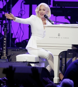 Lady Gaga Plays Piano In Concert