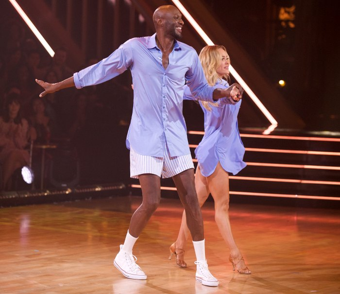 Lamar Odom and Peta Murgatroyd Dancing With The Stars DWTS