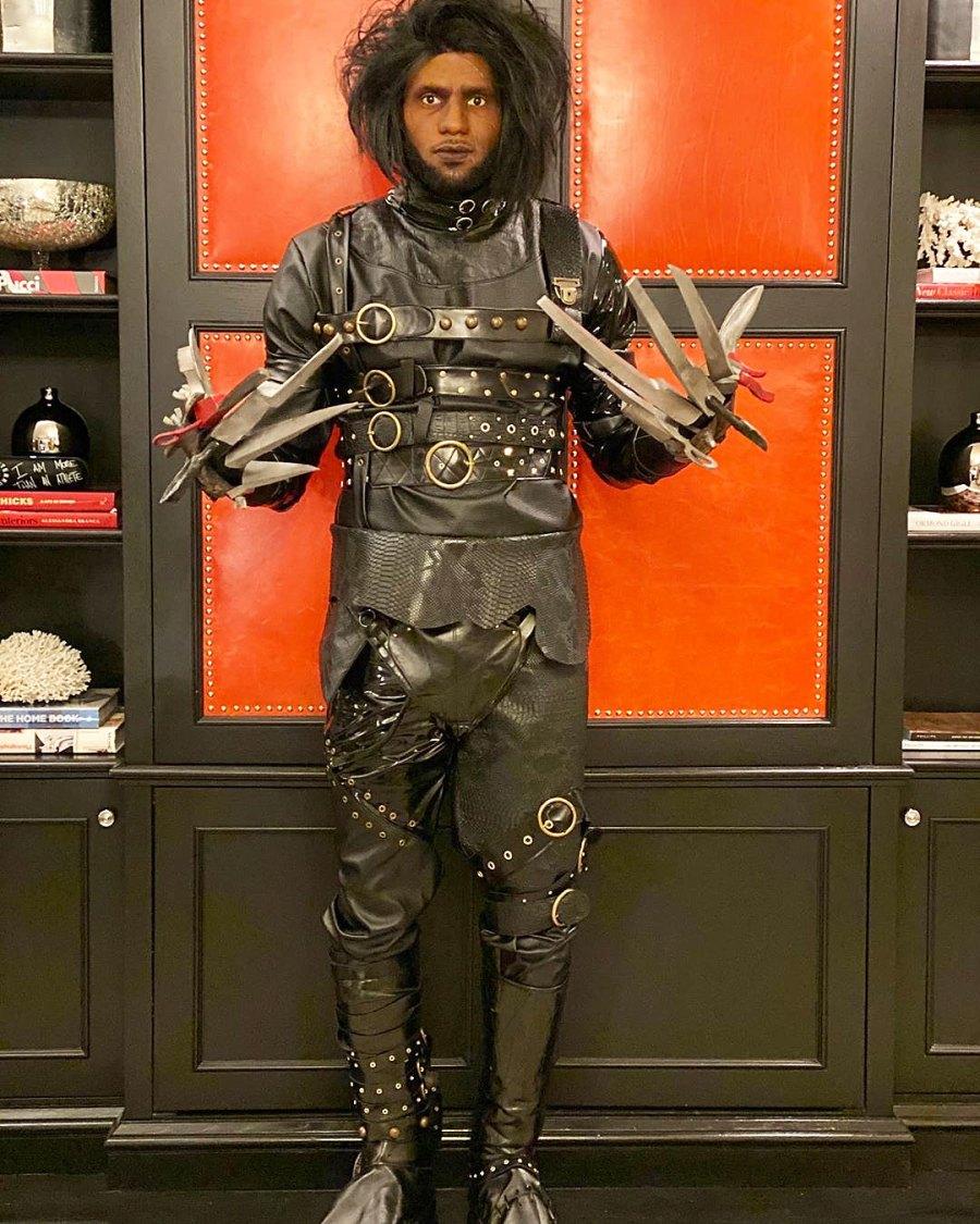 LeBron James as Edward Scissorhands for Halloween Costume 2019