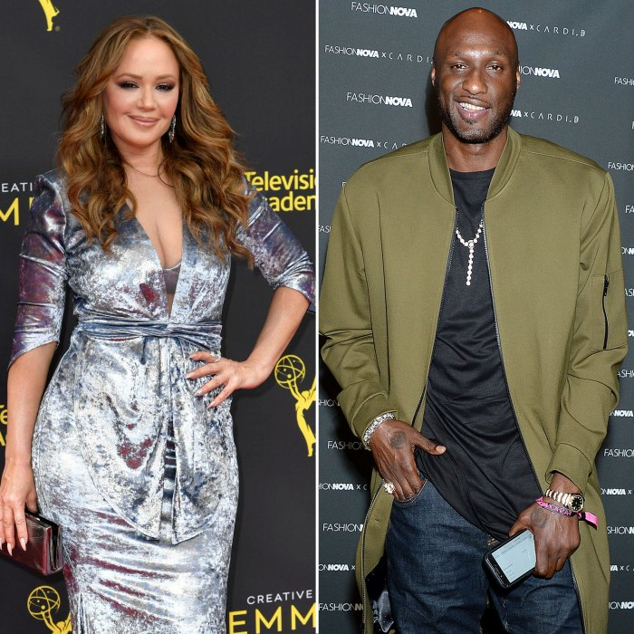 Leah Remini Silver Dress and Lamar Odom Green Jacket Dancing With The Stars DWTS