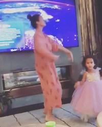 Luna Legend Dances with Mom Chrissy Teigen in a Princess Dress