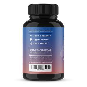 MAV Nutrition Night Time Fat Burner bottle label