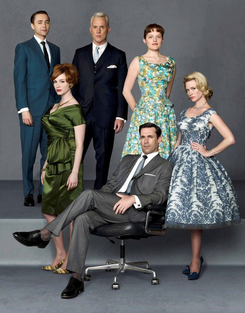 Mad Men Cast Christina Hendricks, Elisabeth Moss, January Jones, Vincent Kartheiser, John Slattery, Jon Hamm
