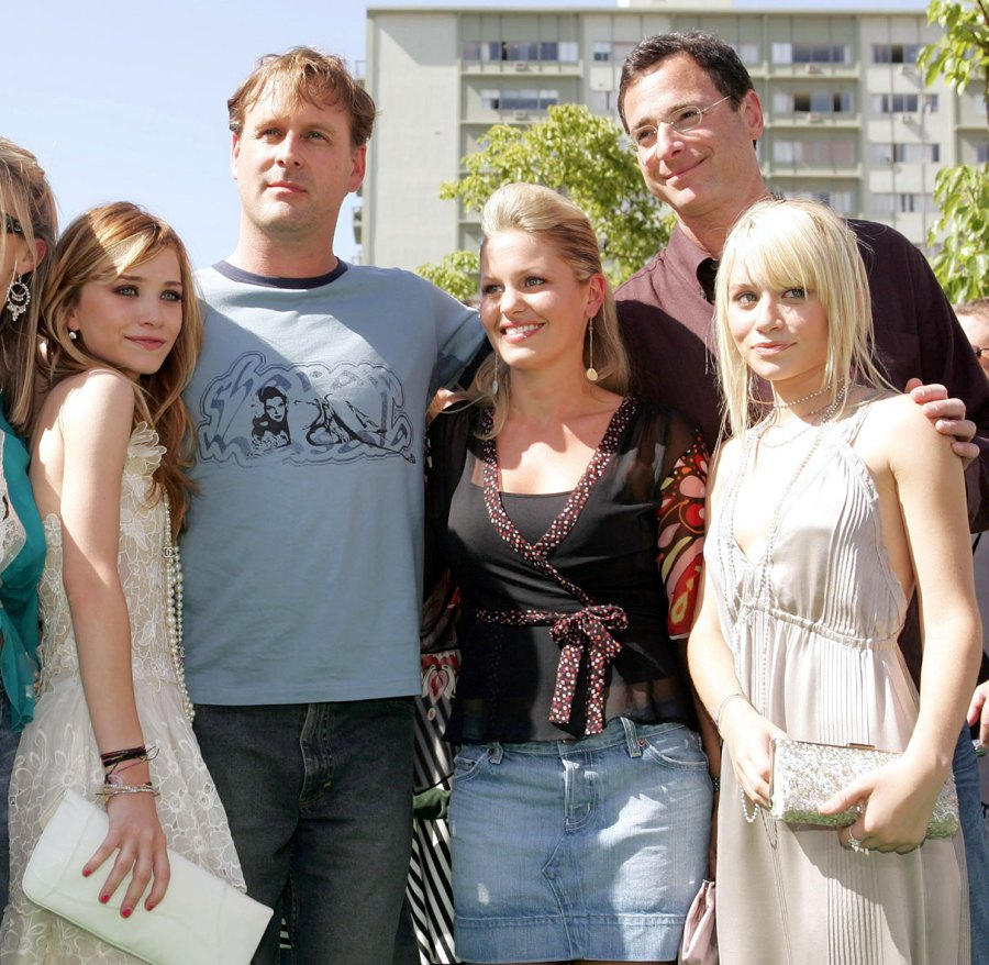 Mary Kate Olsen, Dave Coulier, Candace Cameron Bure, Bob Saget and Ashley Olsen New York Minute