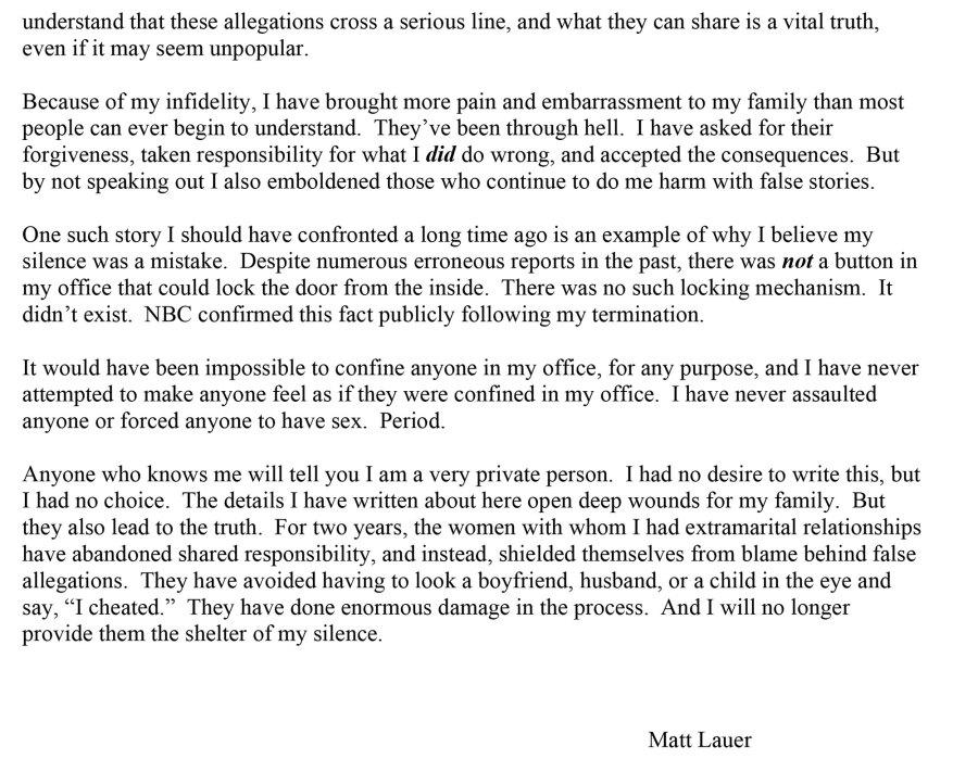 Matt Lauer Open Letter Page 3
