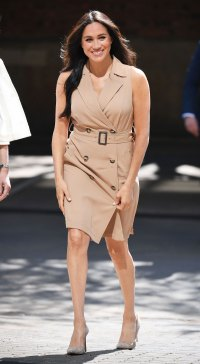 Meghan Markle Africa Tour Looks Beige Dress October 1, 2019
