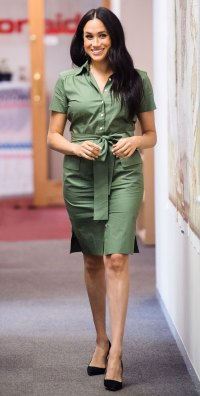 Meghan Markle Africa Tour Looks Green Dress October 1, 2019