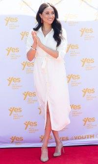 Meghan Markle Africa Tour White Dress October 2, 2019