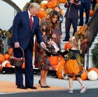Melania Trump Patterned Dress October 28, 2019