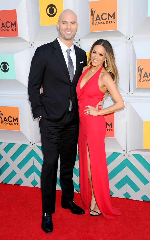 Mike Caussin and Jana Kramer Country Music Awards Red Dress