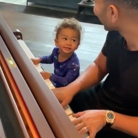 John Legend Miles Legend Playing Piano