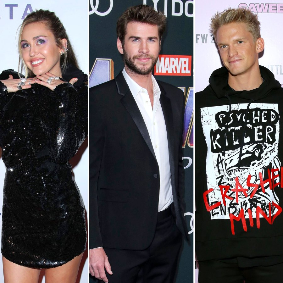 Miley Cyrus Throws Shade at Liam Hemsworth and Other Exes on Instagram Live With Cody Simpson