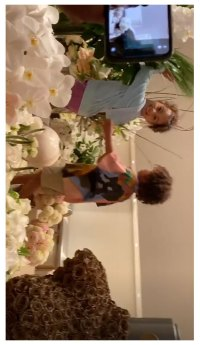 North West Playing With Birthday Flowers Kim Kardashian Instagram Story