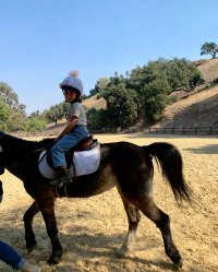 Penelope Horse Back Riding Kourtney Kardashian Instagram Reign's Album