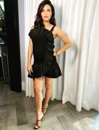 Pregnant Jenna Dewan Black Dress