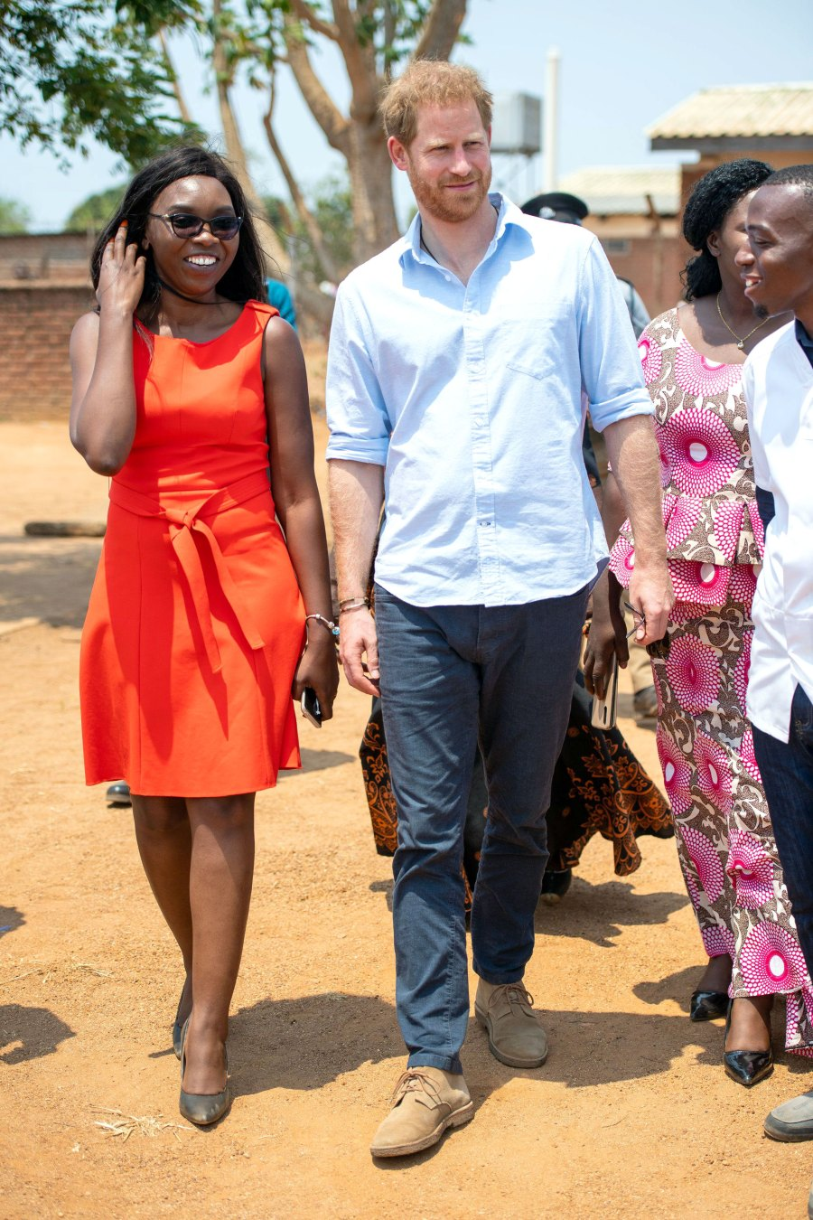 Prince Harry and Duchess Meghan Embark on Royal Tour of Africa Mauwa Health Centre in Blantyre, Malawi