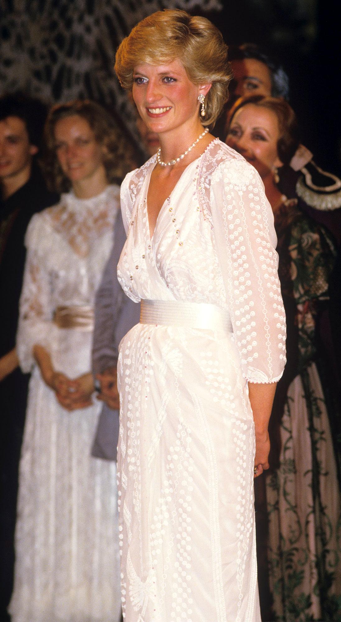 Princess Diana White Dress