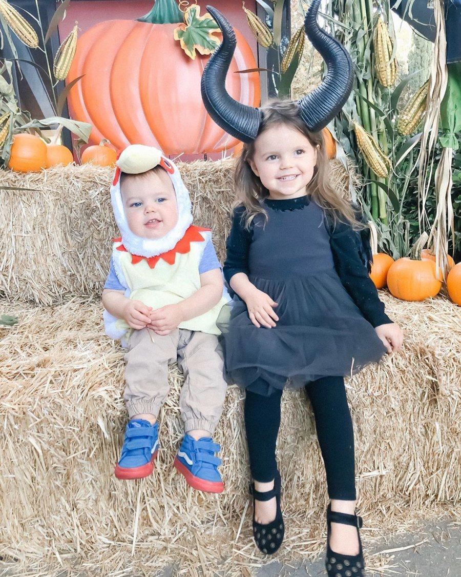 Ali Fedotowsky and Kevin Manno Kids Pumpkin Patch