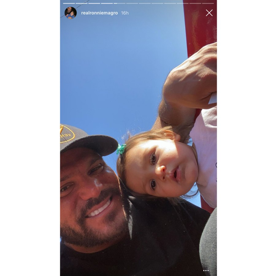 Ronnie Ortiz-Magro With Daughter Hay Ride