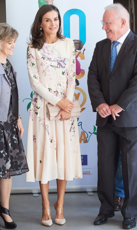 Queen Letizia Floral Dress October 9, 2019