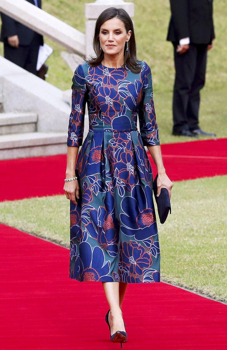 Queen Letizia Floral Dress October 23, 2019