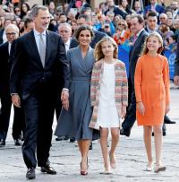 Queen Letizia Grey Dress October 17, 2019
