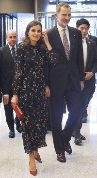 Queen Letizia Polka-Dot Dress October 24, 2019