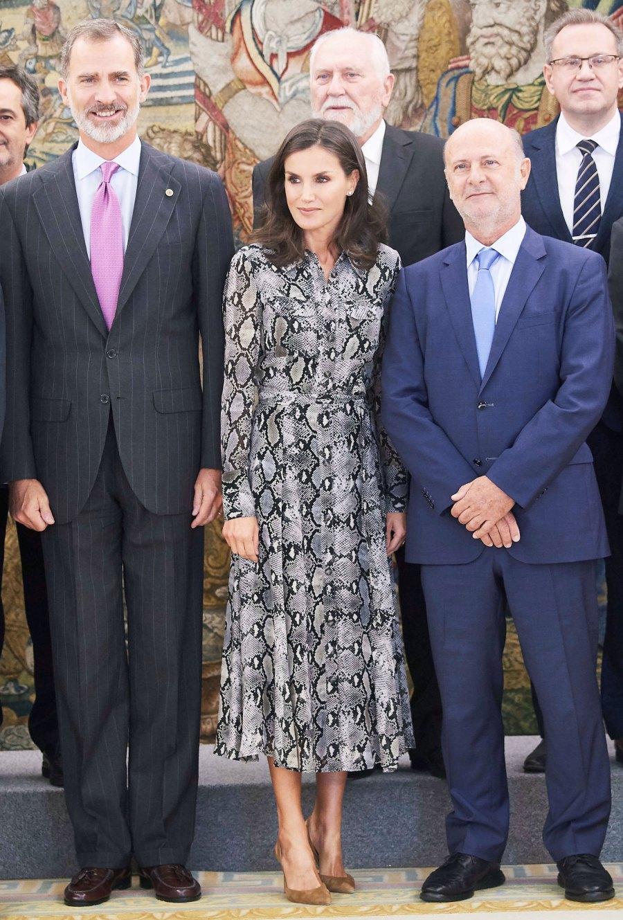 Queen Letizia Snakeskin Look October 8, 2019