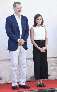Queen Letizia Wears Culottes October 4, 2019