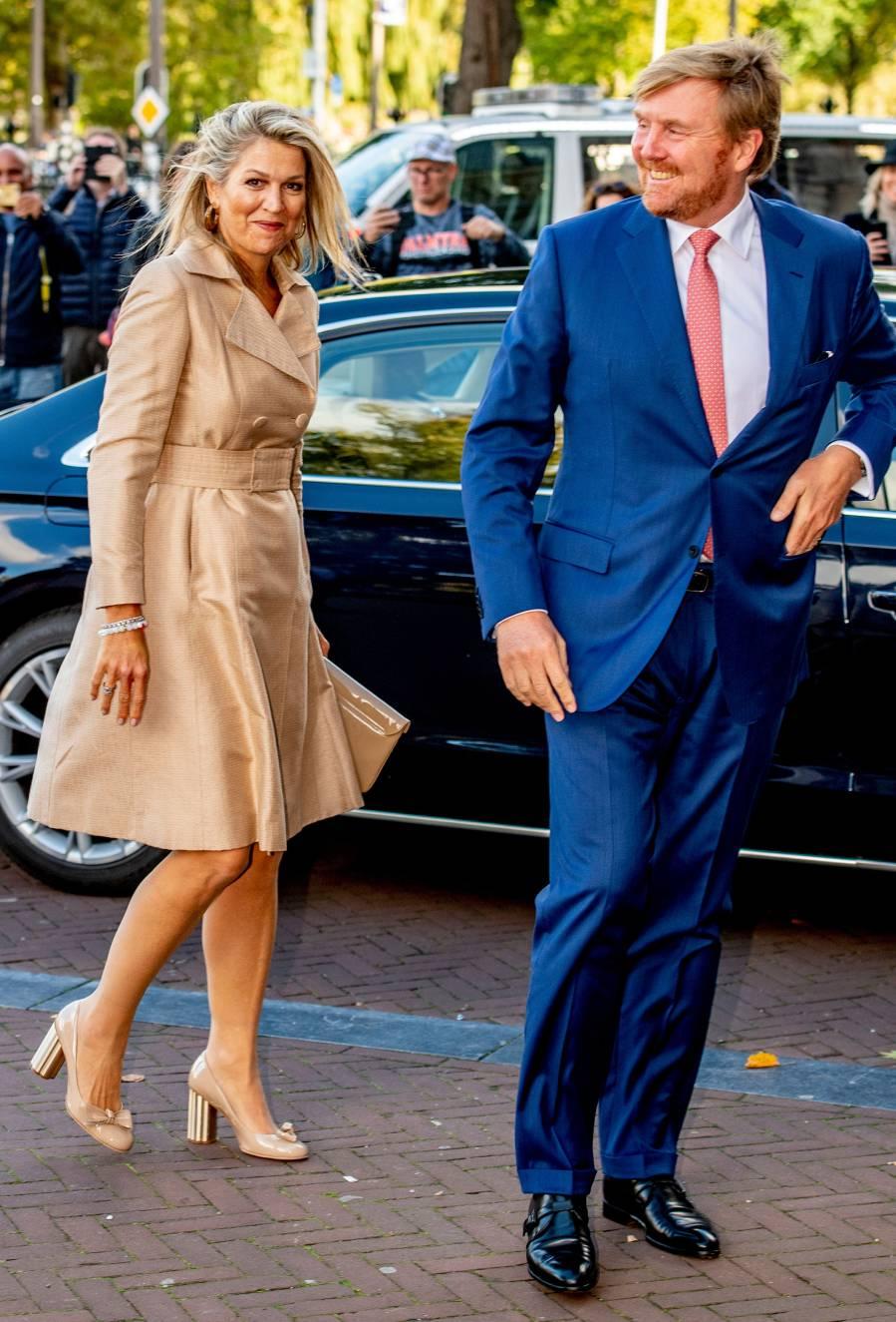 Queen Maxima Beige Coatdress September 30, 2019