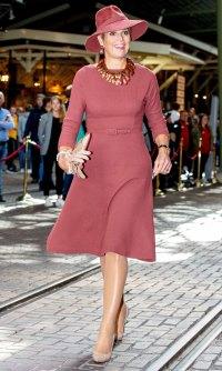 Queen Maxima Mauve Dress October 2, 2019