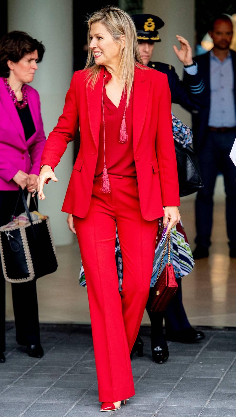 Queen Maxima Red Look October 7, 2019