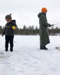 Reign Disick Photo Album Ice Fishing with Mason Disick in Finland