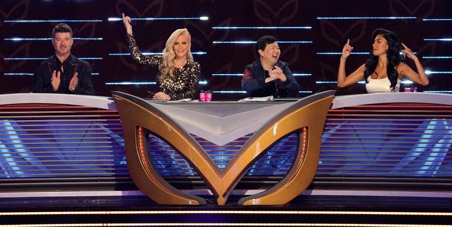 Robin Thicke, Jenny McCarthy, Ken Jeong and Nicole Scherzinger Masked Singer