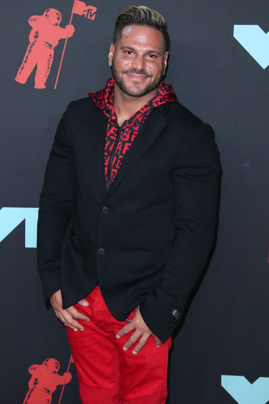 Ronnie Ortiz-Magro Released From Jail Red Pants Black Jacket