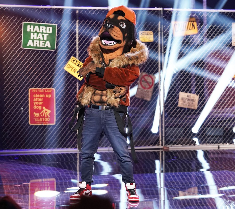 Rottweiller Masked Singer Season 2 Two Costume Dress Up Singing Onstage