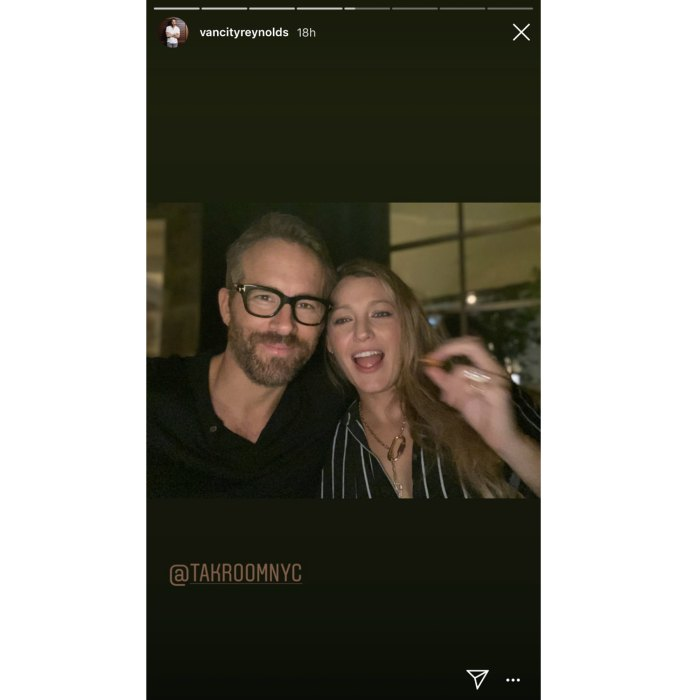 Ryan Reynolds and Pregnant Blake Lively Date Night Selfie